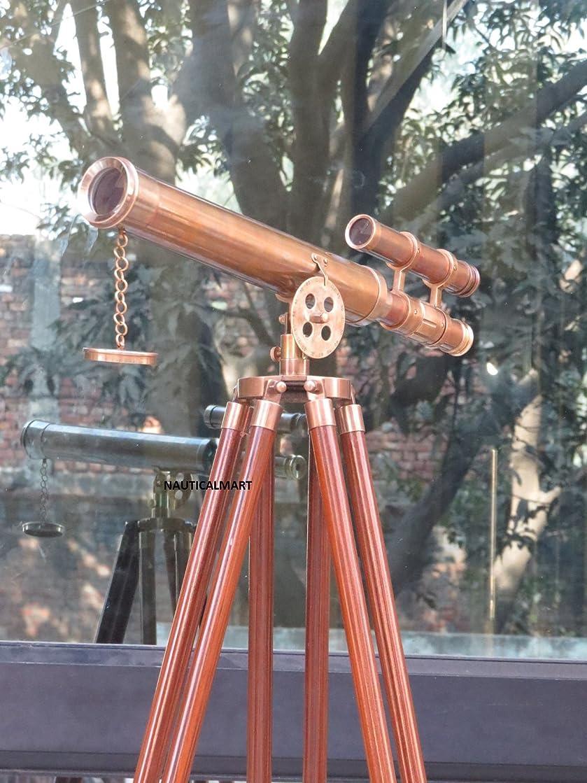 Nauticalmart Floor Standing Brown Antique Griffith Astro Telescope 45
