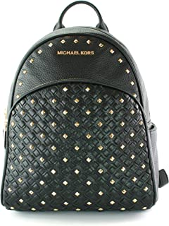 7b4659e7f8 Michael Kors Abbey - Zaino medio con borchie, in pelle martellata nero Cruz  V2 Fresh