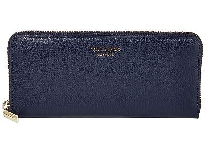 Kate Spade New York Margaux Slim Continental Wallet (Blazer Blue) Checkbook Wallet
