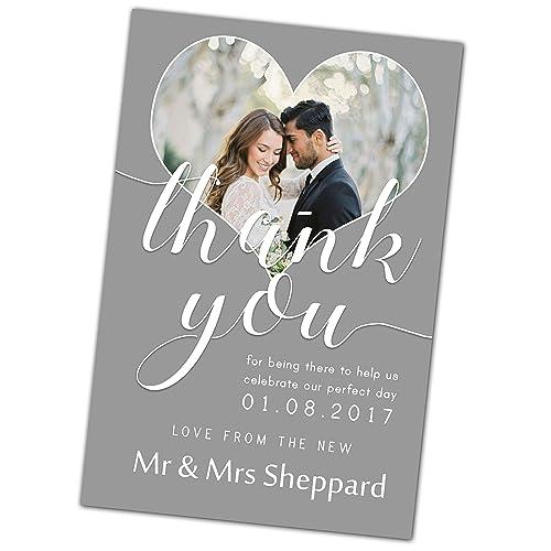 Thank You Cards Wedding Amazon Co Uk