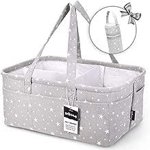 StarHug Baby Diaper Caddy Organizer - Baby Shower Basket | Large Nursery Storage Bin for Changing Table | Car Travel Tote Bag | Newborn Registry Must Have | Bonus Bottle Cooler