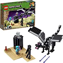 LEGO Minecraft The End Battle 21151 Ender Dragon Building Kit includes Dragon Slayer and Enderman Toy Figures for Dragon F...