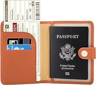 Rfid Blocking Travel Passport Holder Cover Slim Id Card Case