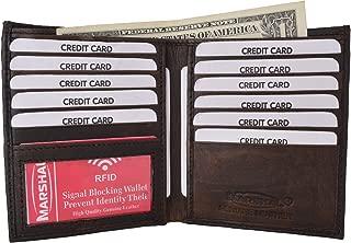 RFID Blocking Bifold Hipster Credit Card Wallet Premium Lambskin Leather