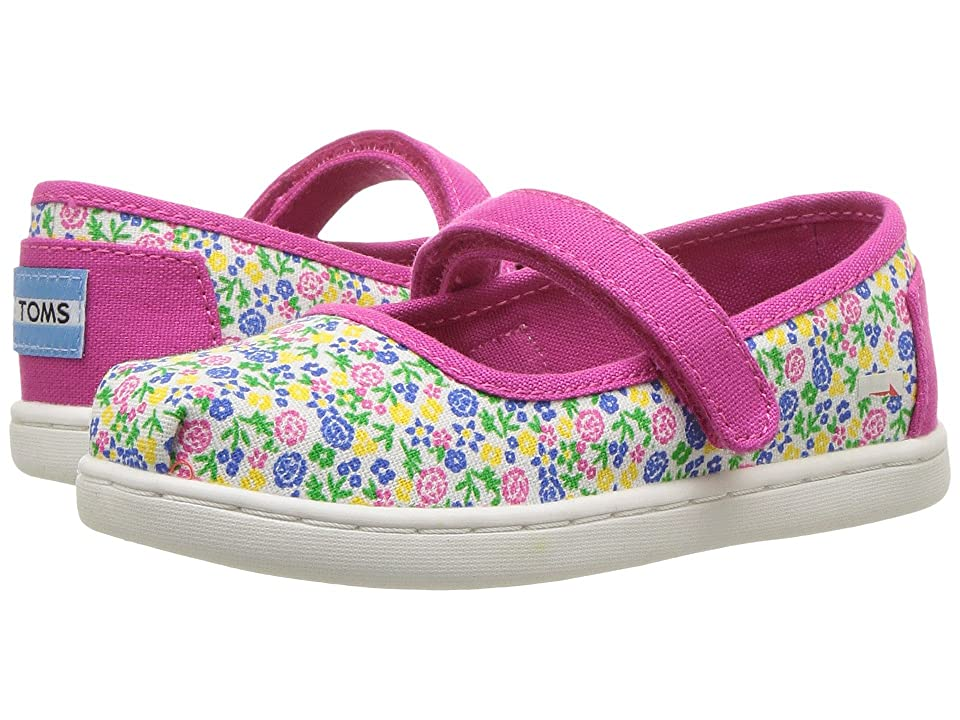 eab6d4a8d03 TOMS Kids Mary Jane Flat (Infant Toddler Little Kid) (Fuchsia Multi