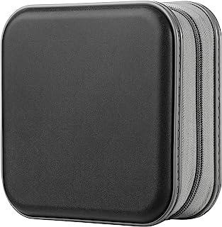 Estuche de CD, Alachi EU 48 Capacidad de plástico Duro Cremallera de Viaje Estuche de Billetera de Almacenamiento de CD (4...