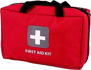 کیت کمک های اولیه - 291 قطعه - کیف. بسته بندی شده با تجهیزات پزشکی بیمارستان برای شرایط اضطراری و بقا. ایده آل برای اتومبیل، کمپینگ، پیاده روی، سفر، دفتر، ورزش، حیوانات خانگی، شکار، خانه