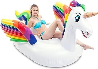 JOYIN Giant Inflatable Unicorn Pool Float with Wings, Alicorn/Pegasus Beach Floats, Swim Party Toys, Pool Island, Summer Pool Raft Lounge for Adults & Kids