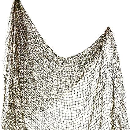 Authentic Used Fishing Net 5/'x10/' Fish Netting Nautical Decor