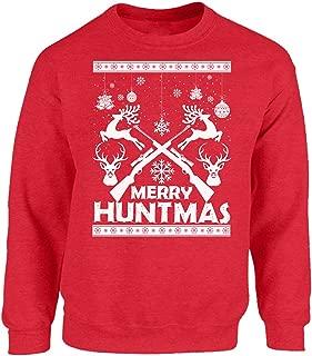 Merry Huntmas Sweatshirt Ugly Christmas Sweater for Men and Women Huntmas Christmas Sweater Hunting Season Xmas Gift
