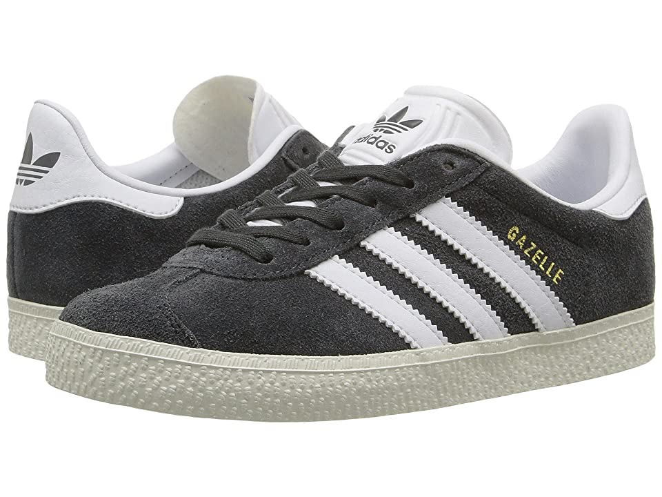 adidas Originals Kids Gazelle (Little Kid) (Solid Grey/White/Gold Metallic) Kids Shoes
