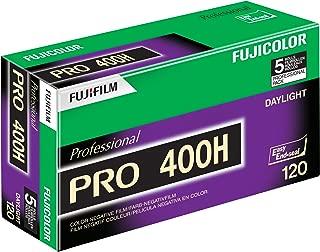 Fujifilm 16326119 Fujicolor Pro 120, 400H Color Negative Film ISO 400-5 Roll Pro Pack (Green/White/Purple)