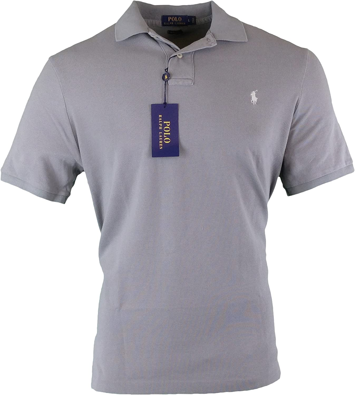 9719f0fe Ralph Lauren Mens Classic Weathered Rugby Polo Shirt Shirt Shirt Grey S  976f0a