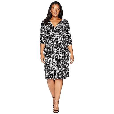 LAUREN Ralph Lauren Plus Size Chelsie Zebra Twigs (Black/White) Women