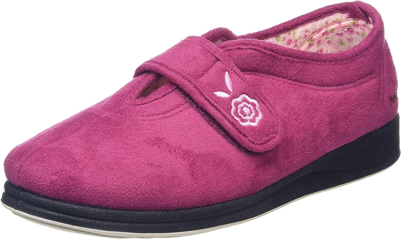 PADDERS Ladies Memory Foam Wide Fitting Slippers 'Camilla'