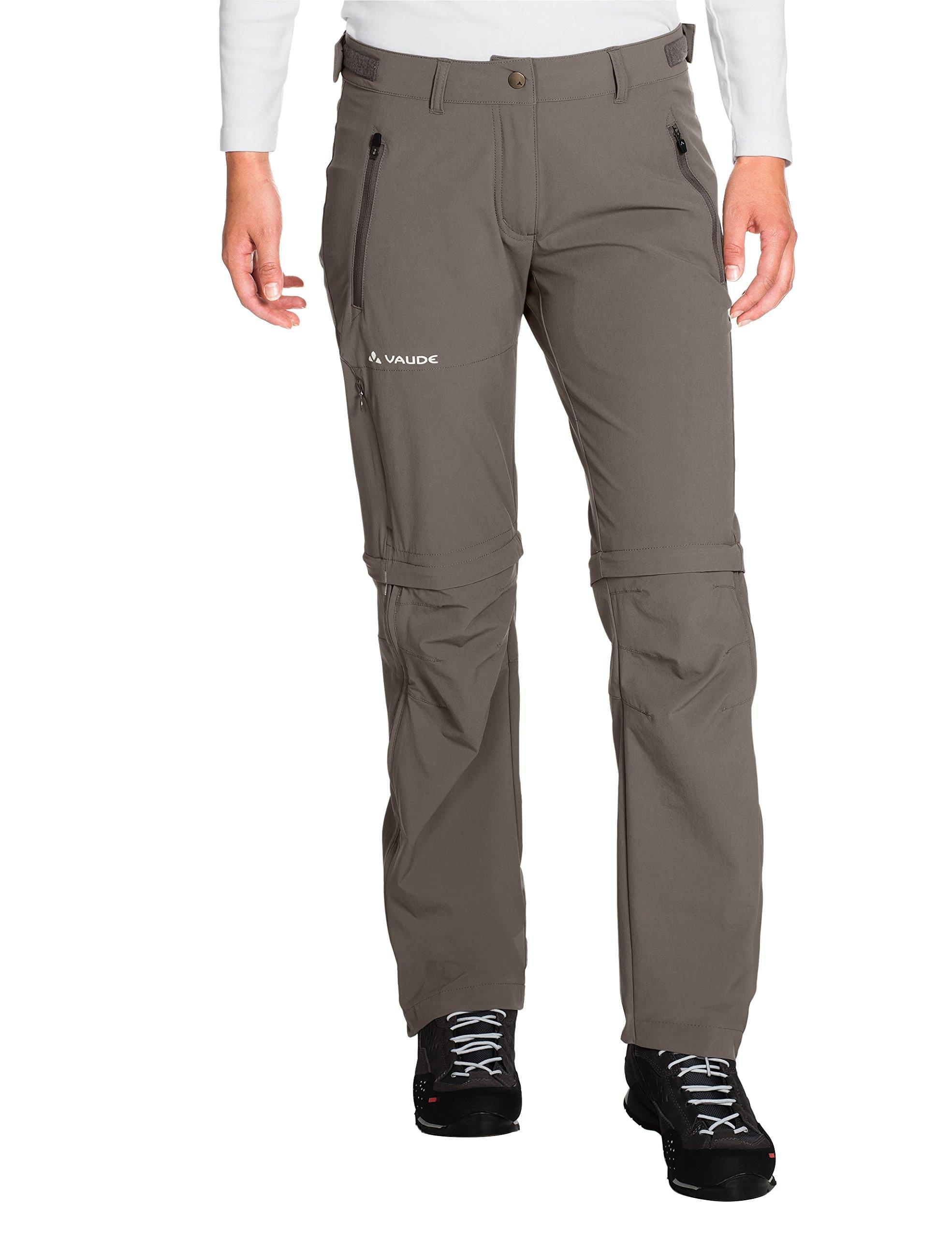VAUDE Damen Hose Women's Farley Stretch ZO T-Zip Pants, Coconut, 34, 40144509634