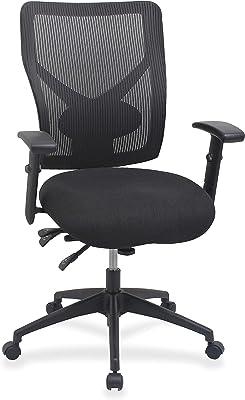 "Lorell Multi-Task Control Mesh Back Chair, 42"" x 28.3"" x 26.3"", Black"