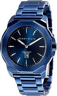 Men Watch Decagon Quartz Luminous Watch with Date Stainless Steel Band Waterproof