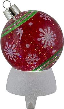 "Roman 6"" LED Snow Globe Christmas Ornament Stocking Holder"