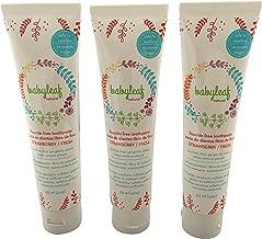 3 Pastas de dientes - libre de fluor - para bebés niños - 113ml (4oz) cada una - Babyleaf Natural