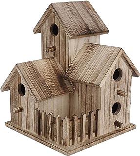 Aukson Nichoir à Oiseaux, nichoir en Bois Platane adapté aux Oiseaux, Hirondelles, perroquets et Autres Animaux Sauvages