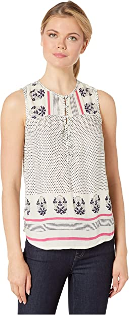 a82007385a72 Lucky brand border print top | Shipped Free at Zappos