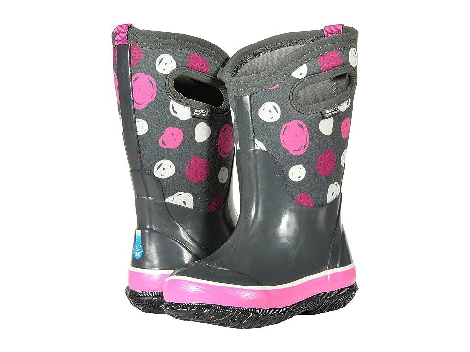 Bogs Kids Classic Sketched Dots (Toddler/Little Kid/Big Kid) (Dark Gray Multi) Girls Shoes