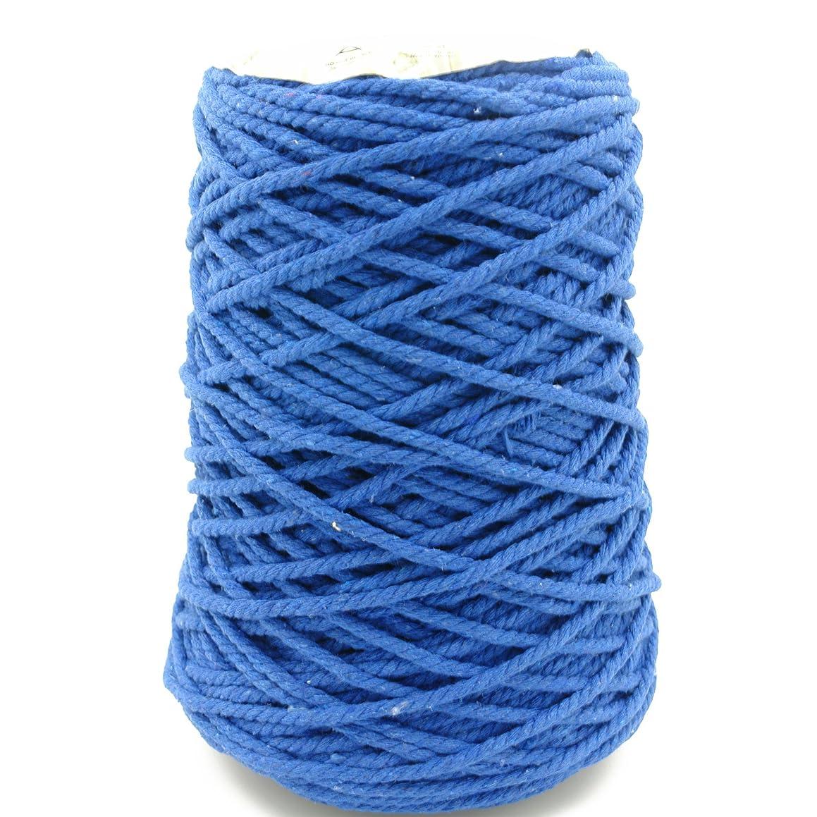 Charmkey Fashion Cotton Yarn 100% Soft Cotton 4 Medium Gauge for Crocheting and Knitting Projects DIY Crafts,17.6 Oz/500g (Mailbu Blue)