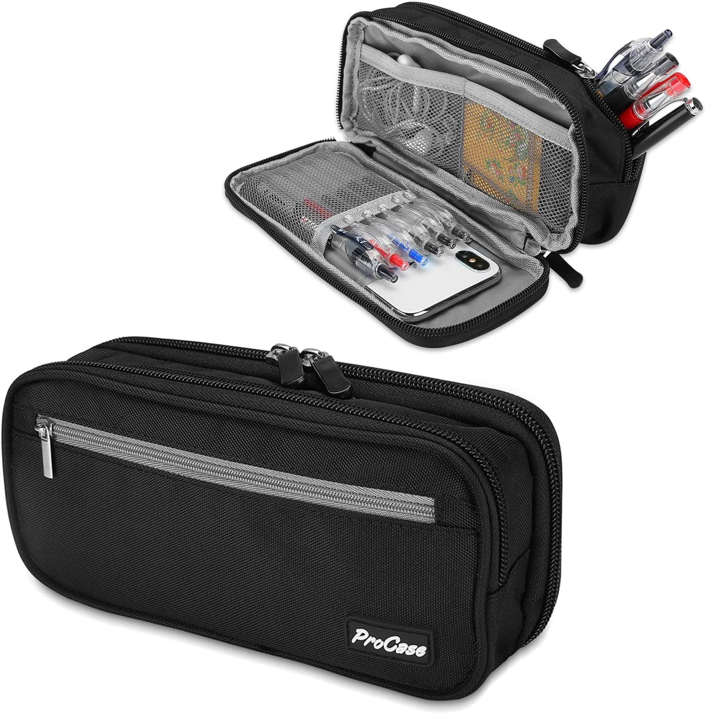 Pencil Case Pen Bag ProCase Layers OFFicial mail order Today's only Capacity Two Pouc Big