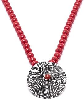 Marrocu Gioielli - Girocollo corbula in argento con pietra