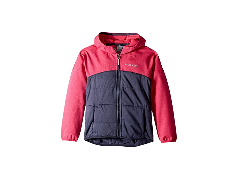 Columbia Kids Take A Hiketm Softshell (Little Kids/Big Kids) (Cactus Pink Heather/Nocturnal) Girl