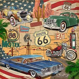 20 servetten USA Trip | Route 66 | auto's | oldtimer | Amerika | Vintage 33x33cm