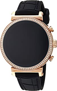 Michael Kors Women's Quartz Wrist Watch smart Display and Silicone Strap, MKT5069