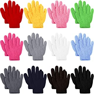 12 Pairs Kids Gloves Full Fingers Knitted Gloves Stretchy Knitted Soft Warm Gloves Winter Mittens for Christmas Party Boys and Girls Toddler Supplies