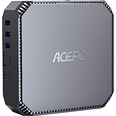 ACEPC Mini-PC Inter Celeron J3455 Prozessor, 8GB RAM/128GB ROM Window 10 Pro Mini computadora, Dual Band WiFi 2.4G/5G,4K HD, Gigabit Ethernet,2.5 Pulgadas SATA HDD/SSD…