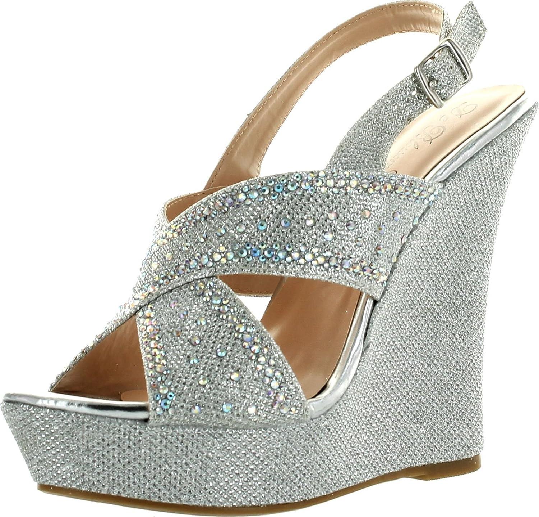 De Blossom Womens Nemo-67 Fashion Platform Wedge Dress Sandals