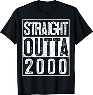 19th Birthday Straight Outta 2000 Gift 19 Year Old Party T-Shirt