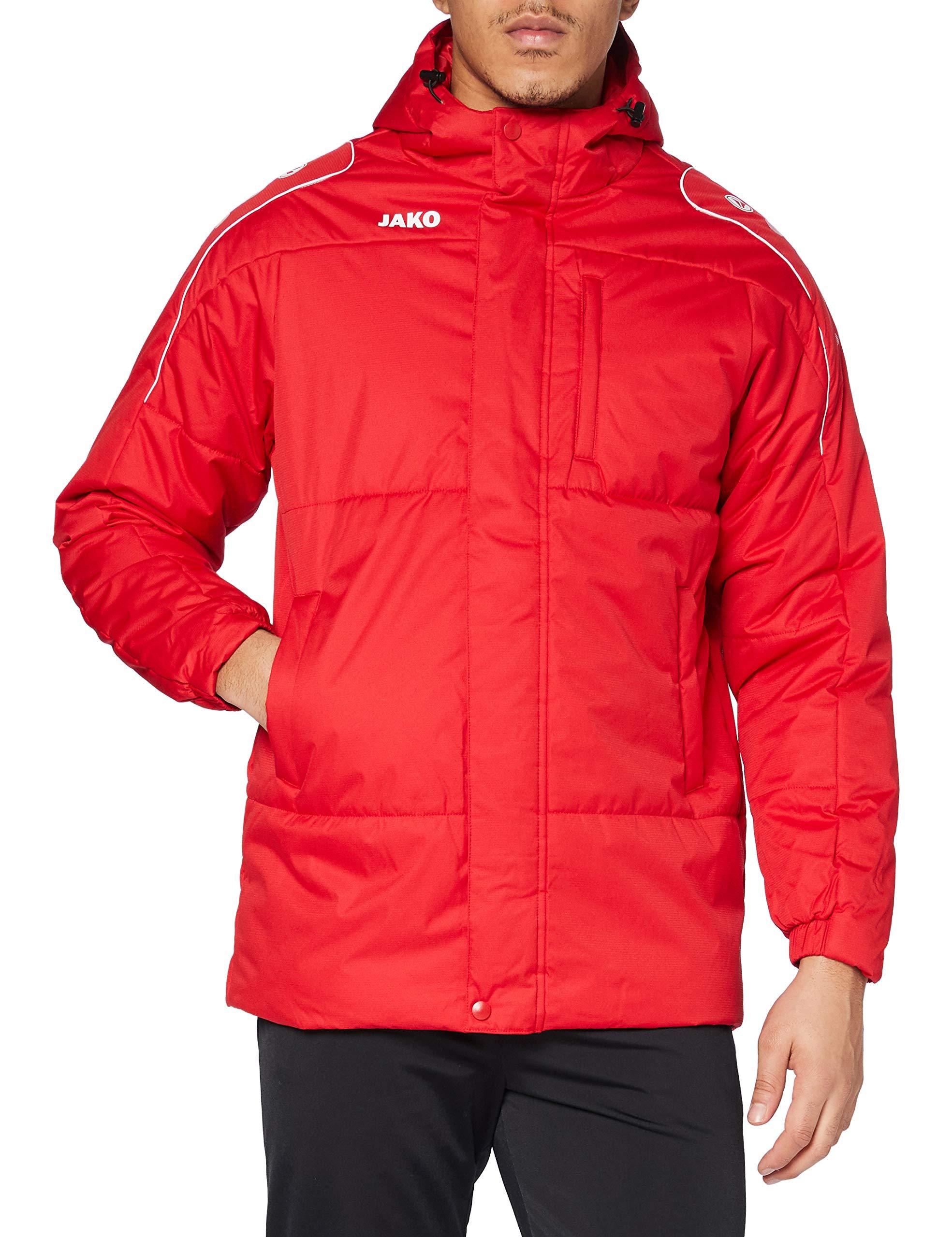JAKO Erwachsenen Coachjacke Active, rot/weiß, M, 7197