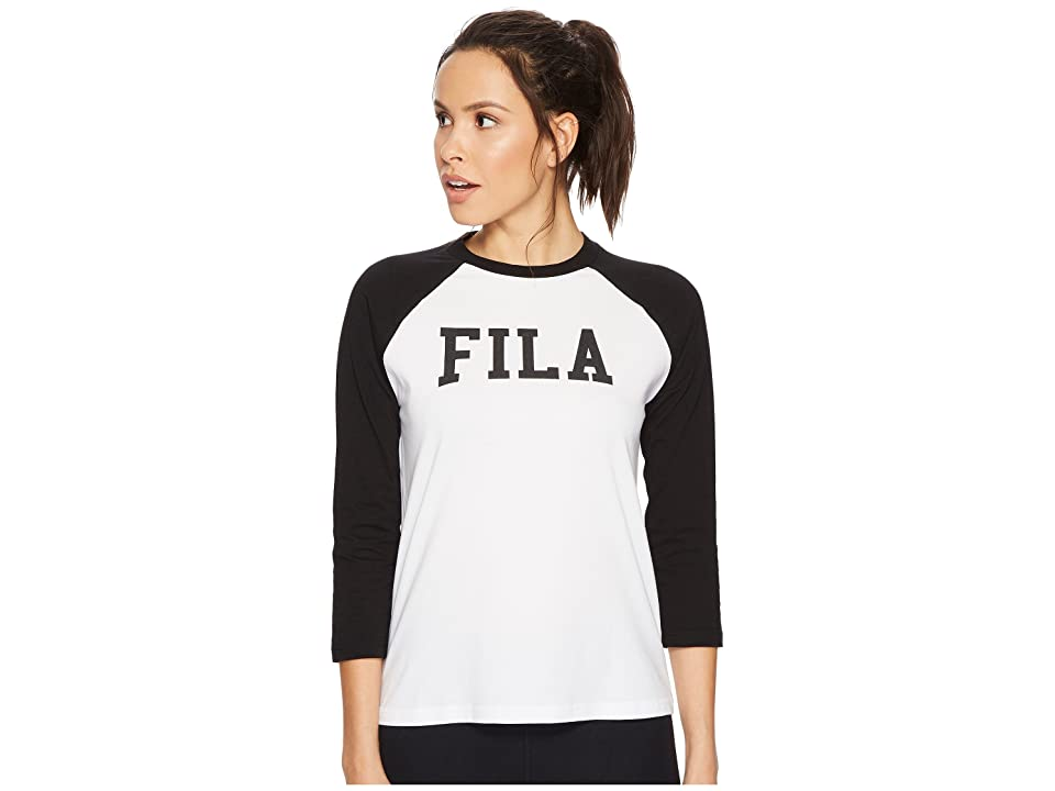 Fila Tammy Raglan T-Shirt (White/Black) Women