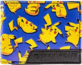 Pokemon Pikachu Happy Electric Mouse Blue ID & Card Bi-Fold Wallet