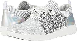 White/Silver Knit/Silver Leopard