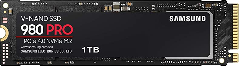 SAMSUNG 980 PRO 1TB PCIe NVMe Gen4 Internal Gaming SSD...