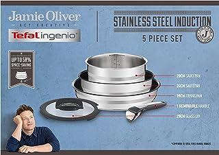 Tefal , Ingenio, Jamie Oliver, Stainless Steel, Cookware Set, pans