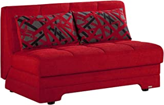 ISTIKBAL Multifunctional Furniture Twist Collection (Love Seat Sleeper) STORY RED
