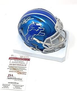 Barry Sanders Detriot Lions Signed Autograph Blaze Mini Helmet JSA Witnessed Certified
