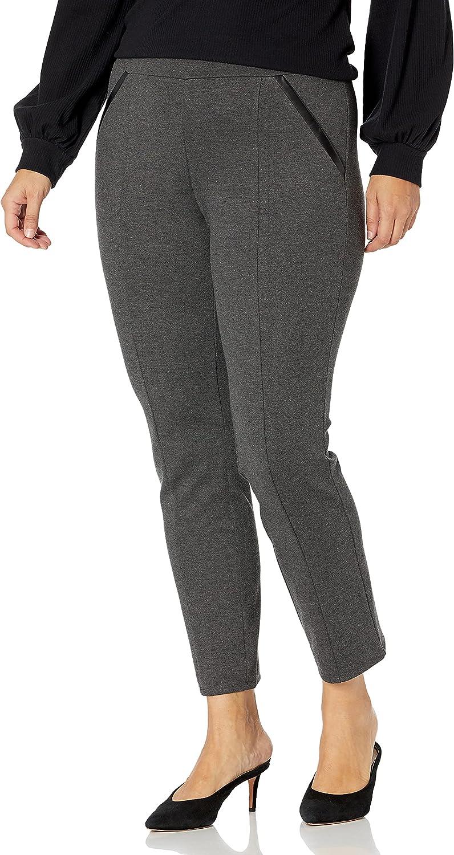 Rafaella Women's Plus-Size Ponte Comfort Fit Slim Leg Pants