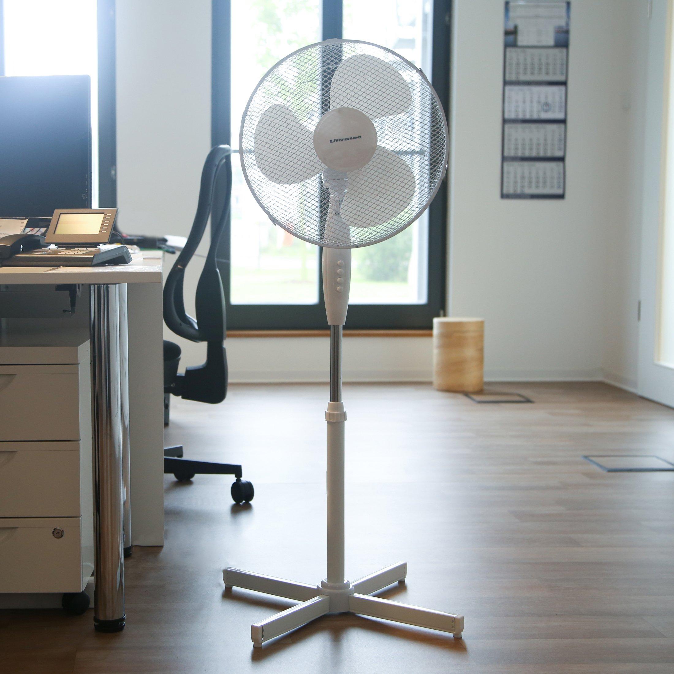 Ultratec - Ventilador de pie silencioso con 3 niveles de velocidad ...
