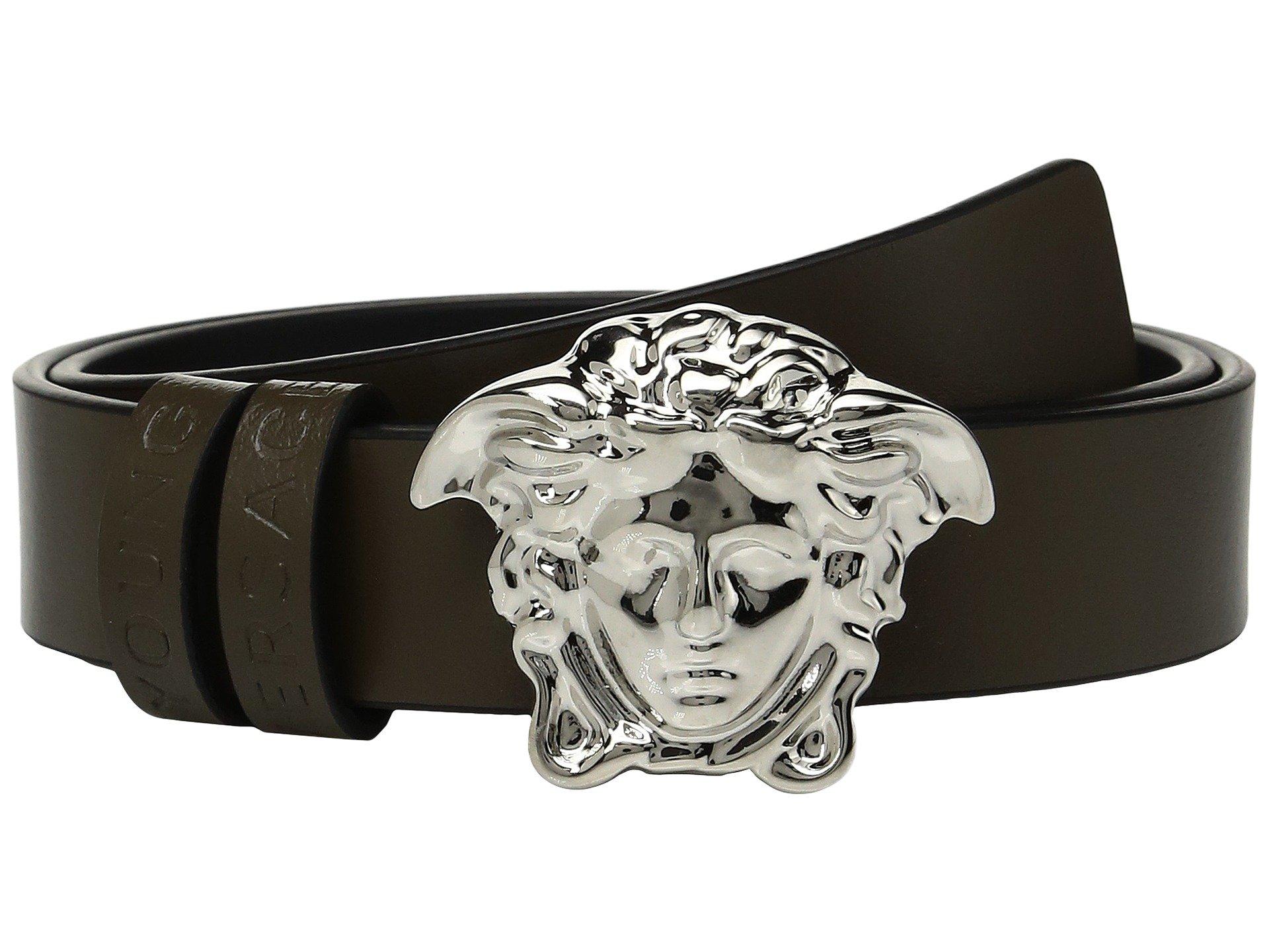 Cinturon para Niño Versace Kids Leather Belt with Medusa Buckle (Toddler/Little Kids)  + Versace en VeoyCompro.net