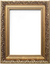 Ornate swept Antique style french style Picture/Photo/Poster frame – Moulding measures 58mm wide and 38mm deep - With a High Clarity Styrene Shatterproof Perspex Sheet - Gold Colour Frame - Size A4 - OSAFS-GLD-A4