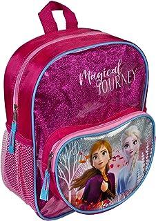 Undercover Disney Frozen Mochila con bolsillo delantero y efecto brillante, para escuela y tiempo libre, mochila infantil ...